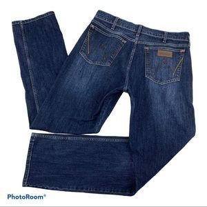 WRANGLER Retro Slim Straight Dark Blue Jeans 35x34